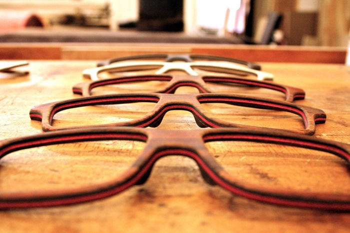 anni shades wooden eyeglasses