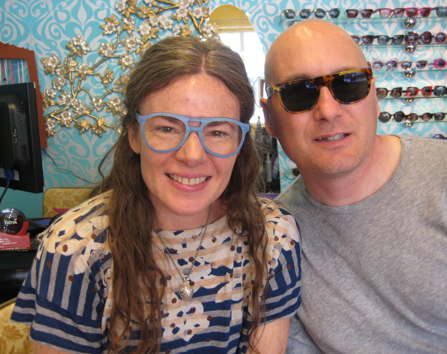 Lisa &amp; Frank in their new Feb31st and Super sunglasses!