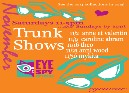 November Trunk Shows!