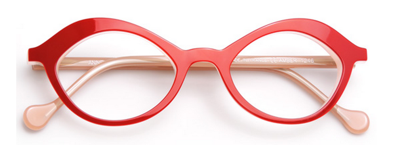 1cbdaaa413 Erin chose a bright red pair of Anne Et Valentin Amber frames for her fun  pair. She had the hardest time deciding which color to get – she would have  gotten ...