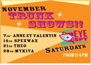 November Trunk Shows every Saturday