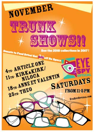 November Trunk Shows every Saturday